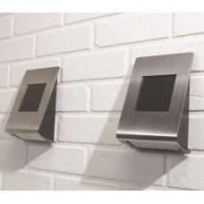Stainless Steel Solar Wall Lights (Pack of 2)
