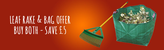 Leaf Rake & Bag Offer