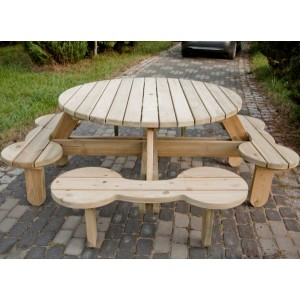 Orbit 1500 Round Heavy Duty Picnic Table