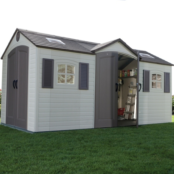 Lifetime 15ft x 8ft Double Entrance Shed