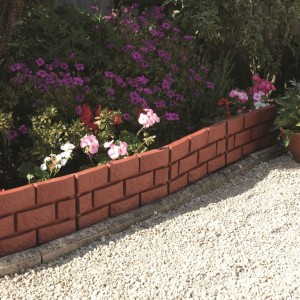Terracotta Brick Effect Garden Border
