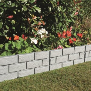Heritage Grey Brick Effect Garden Border