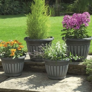 Georgian Style Black Planters (pack of 4)