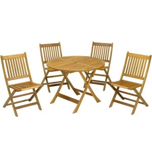 Manhattan Folding Patio Table & 4 Chairs