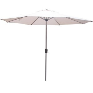 3m Stainless Steel Look Crank and Tilt Parasol