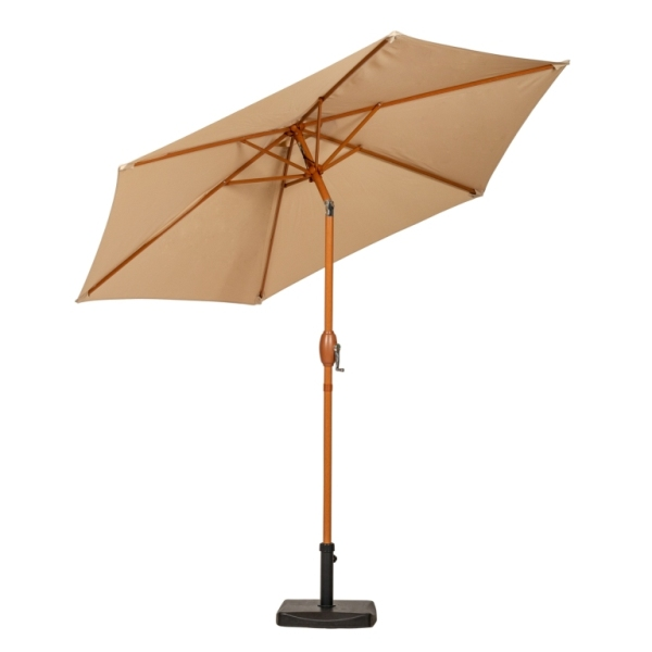2.5m Sahara Wood-Look Crank and Tilt Parasol