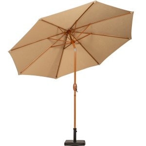 3m Sahara Wood-look Crank and Tilt Parasol