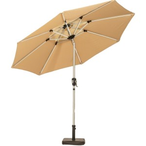 2.7m Sahara Crank and Tilt LED Parasol