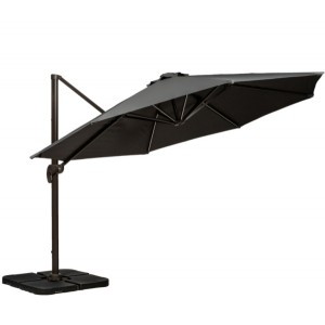 3.5m Grey LED Cantilever Parasol
