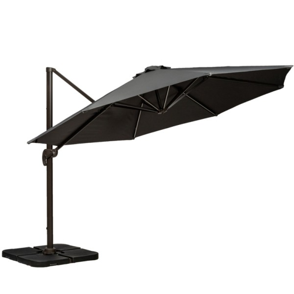 3.5m Grey LED Cantilever Parasol