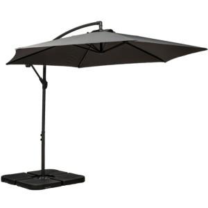 3m Grey Standard Cantilever Parasol