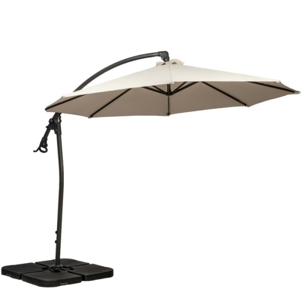 3m Ivory Rotating Cantilever Parasol