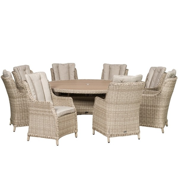 Seychelles 8 Seater Highback Comfort Dining Set