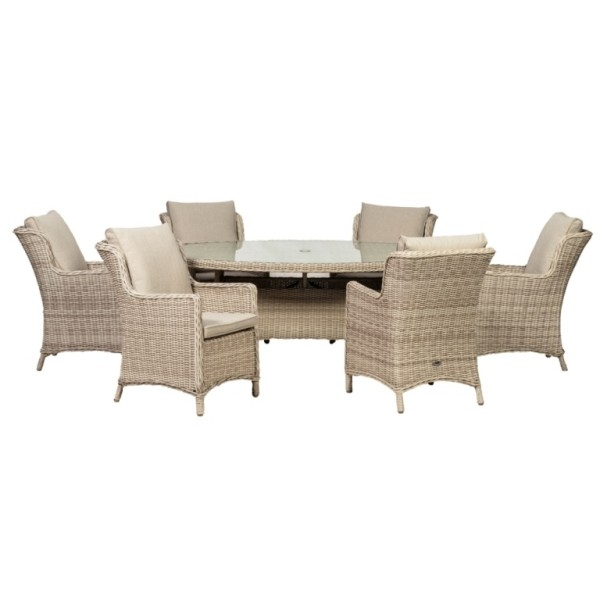 Seychelles 6 Seater Oval Dining Set