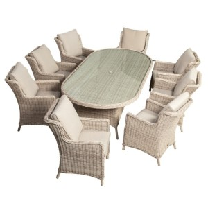 Seychelles 8 Seater Oval Comfort Dining Set