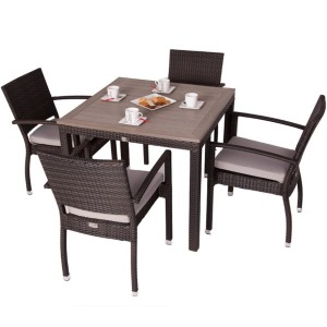 Apollo 4 Seat Square Rattan Dining Set