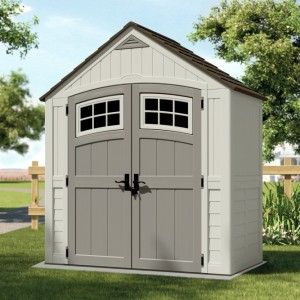 Cascade 7ft x 4ft Double Door Plastic Shed