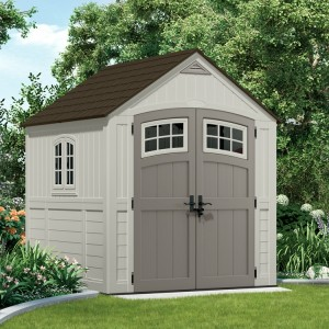 Cascade 7ft x 7ft Double Door Plastic Shed