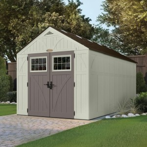 Tremont 8ft x 16ft Double Door Plastic Shed