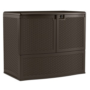 Large Plastic Wicker Storage Box