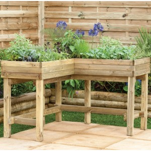 Corner Table Planter