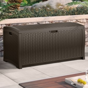 Wicker Watertight Patio Storage Chest