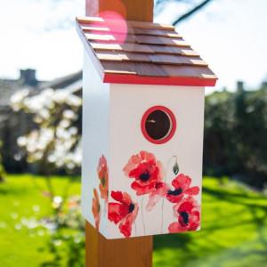 Poppy Saltbox Bird House