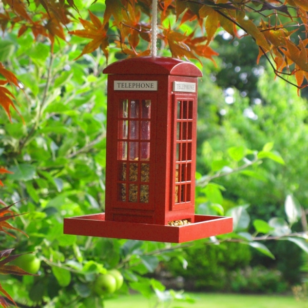 Telephone Box Bird Feeder
