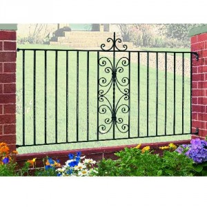 English Rose Galvanised Fence Panel