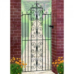 English Rose Galvanised Tall Single Gate