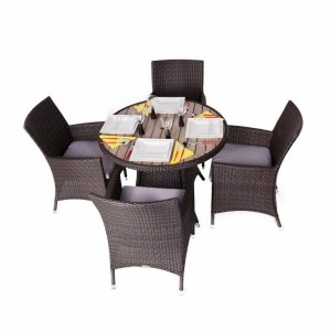 Fazzio 4 Seat Round Rattan Patio Set