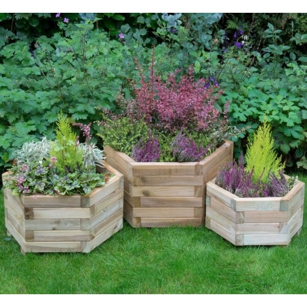 York Hexagonal Planter Set of 3