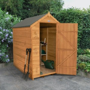 Overlap Dip Treated 4 x 6 Apex Shed - No Window