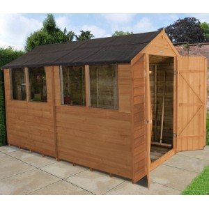 Overlap Dip Treated 6 x 10 Apex Double Door Shed