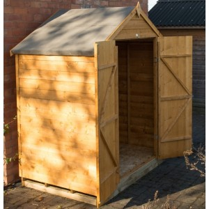 Overlap Dip Treated 6 x 4 Apex Double Door Shed