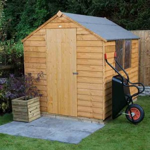 Overlap Dip Treated 6 x 8 Apex Shed