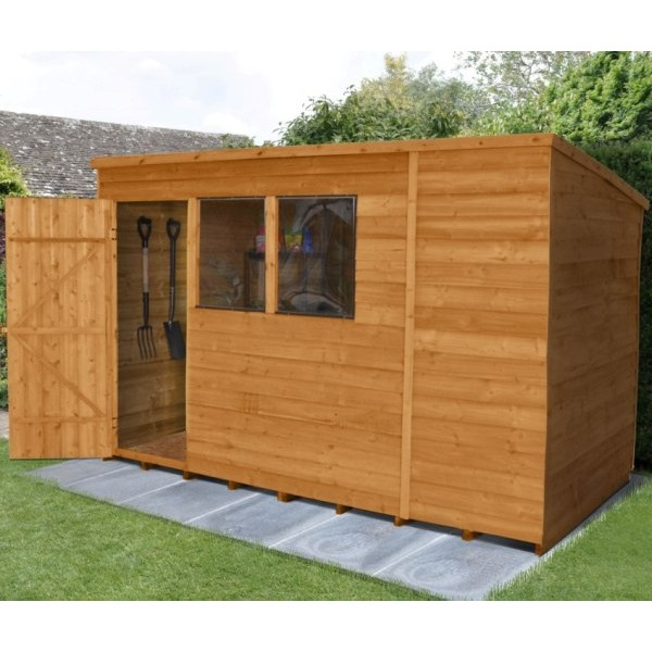 Overlap Dip Treated 10 x 6 Pent Shed