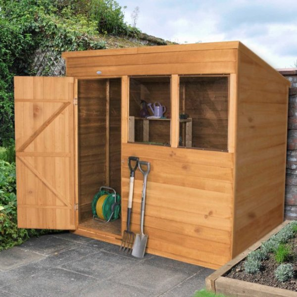 Overlap Dip Treated 7 x 5 Pent Shed