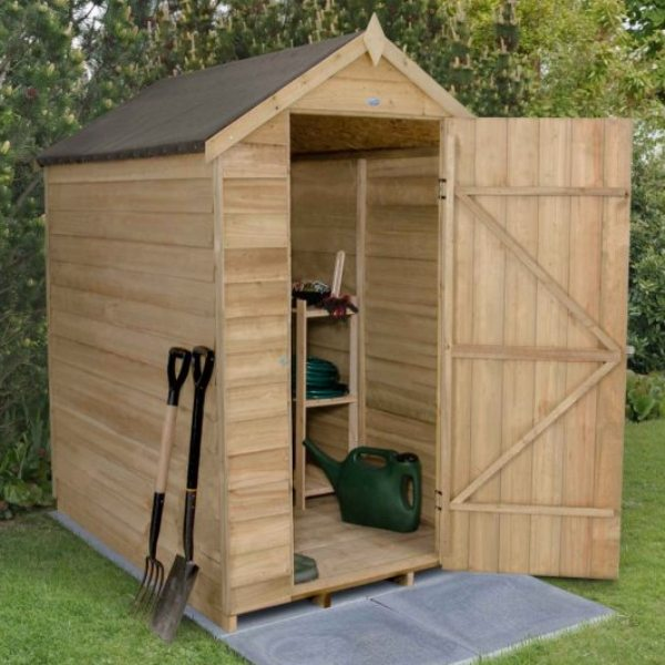Overlap Pressure Treated 4 x 6 Apex Shed - No Window