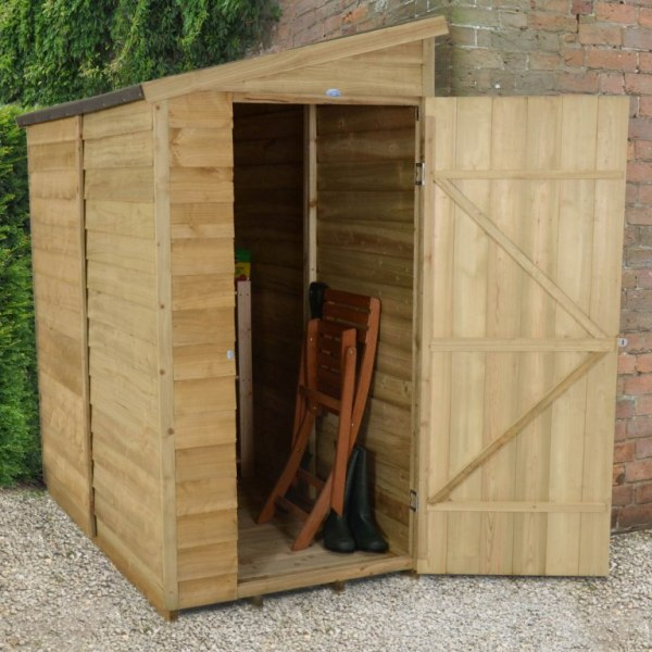 Overlap Pressure Treated 3 x 6 Pent Shed - No Window