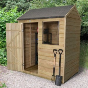 Overlap Pressure Treated 6 x 4 Reverse Apex Shed