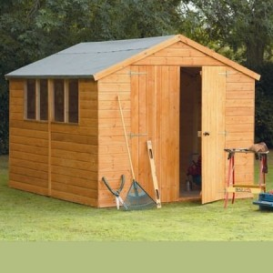 Larchlap 10 x 8 Shiplap Apex Shed