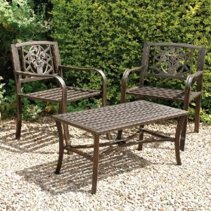 Bronze Armchairs and Table