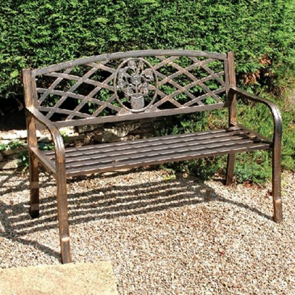 Bronze garden bench Garden benches metal