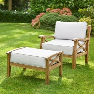 Sorrento Armchair and Footrest - Natural