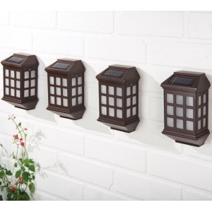 Deluxe LED Solar  Lights - Pack of 4