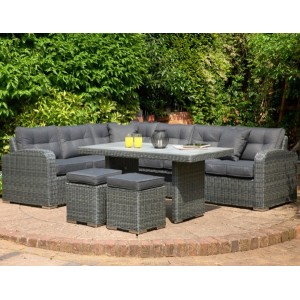 Broadwater Charcoal Sofa Set With Polywood Table