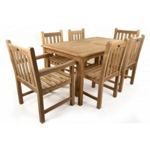 Warwick 6 Seat Teak Patio Set