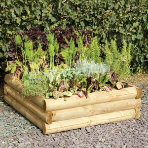Half Round Sleeper Raised Bed