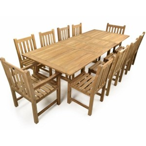 Jubilee Double Extending Teak Patio Set
